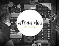 Menu Design : Afraa Deli