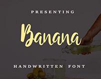 Banana Handwritten Font