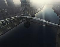 "Brommy New Footbridge, Berlin ""The Flowing Bridge"""