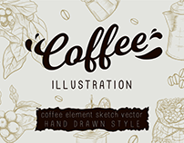 Coffee Elements Vector Drawing