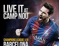 How works my image style's on FCBarcelona campaign