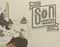 Son Contrabando logo and  cd packaging