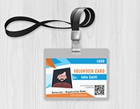Volunteer Card - Template Free Download