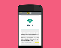 Flat Nexus4 UI Design
