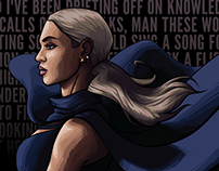 Beyonce: Ghost (Vector Portrait Project)