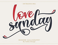 Free Love Sunday Calligraphy Font