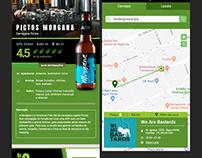 Tela de Produto e Mapa para aplicativo de cerveja