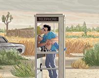 True Romance Phone Booth Scene & Movie Montage