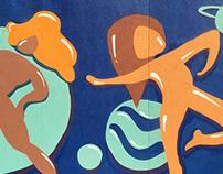 Women dancing in space