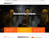 Manufacturing WordPress Theme