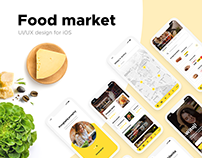 Travi Design | Food market APP, UI/UX iOS design.