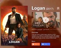 Crypto Streaming Service Movie Info Screens