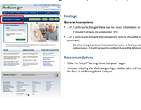 Mobile & Desktop Usability Study: Nursing Home Compare
