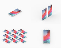 Minimal Clay iPhone X Presentation Mockup Set