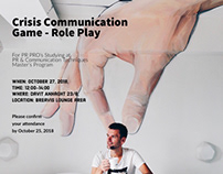 Event poster, Crisis comms game