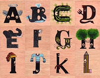 All alphabet in spanish