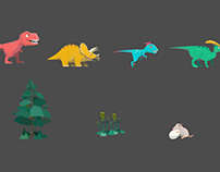 """The Dinosaurs"" app game, Kizipad"