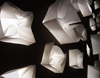 Trance Paper Wall Installation