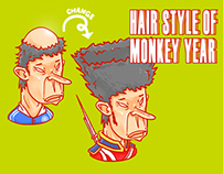 Hair style of monkey year