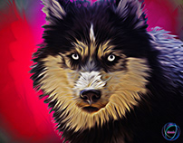 Dog Oil Painting