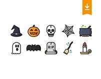 Halloween icon set (freebie)