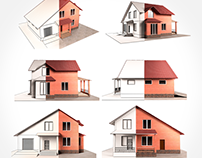 3D Cottage Visualization