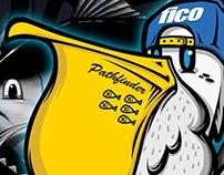 FISHING PELICAN PATHFINDER 'LUCAS' Charaterdesign