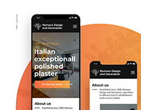 Polished plaster | Design landing page | Design site