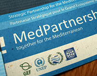MedPartnership 4 fold leaflet on recycled paper