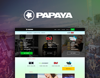 Papaya Club - Website redesign