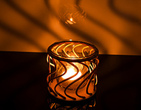 CO2 Laser Cut Plywood Tealight holders