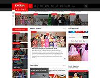Excel Magazine International Website Design