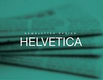 Newsletter Design - Helvetica