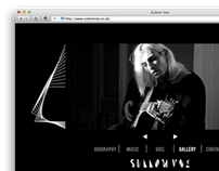 Logo & Web Design for Sullom Voe, London based band