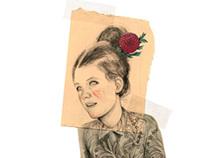 La Sonrisa de Clara por el Pintor Amadeo