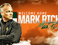 Miami Football Mark Richt Hire Video/Social Graphics