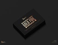 Free Gold Foil Business Card Mockup