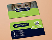 Modern business card with free mock-up
