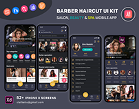 Barber Haircut, Salon & Beauty UI KIT