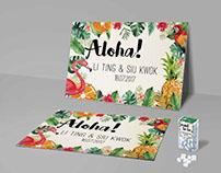 Aloha Theme - Wedding Invitation