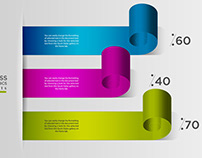 Free 3D Modern Business Infographics Options Element