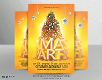 X mas Party Flyer template