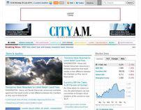 City AM newspaper website proposal