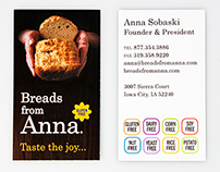 Breads from Anna Business Card