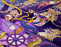 Mermaid Kingdom Textile print 2020