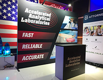 Accelerated Analytical Laboratories Booth Graphics