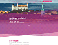 New design website for the congress - Bratislava Dental
