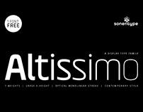 Altissimo - A Display Type Family