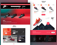 PSD Name: New Adidas landing page for E-Commerce