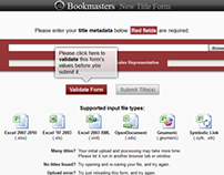 Bookmasters New Title Upload